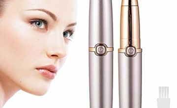 Eyebrow Hair Remover,Painless Trimmer for Women,Portable Eyebrow Hair Removal Razor with Light,Ladies Automatic Shaver for Eyebrow/Facial Hair/Lip/Chin(Without Battery)