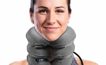 Best Cervical Neck Traction Device & Collar Brace by BRANFIT, FDA Approved Inflatable & Adjustable Neck Support Pillow is Ideal for Spine Alignment & Chronic Neck Pain Relief