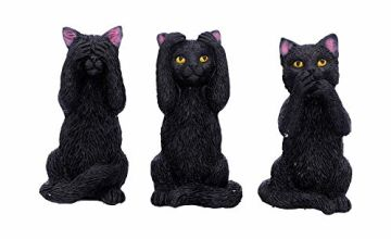 Nemesis Now Three Wise Felines 8.5cm, Black, One Size