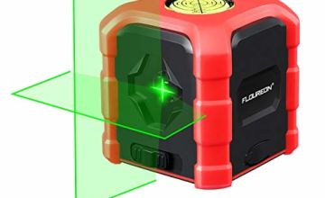 FLOUREON Green Laser Level Cross Line Laser 30M Self Leveling Laser Line with Self-Leveling Mode, Horizontal and Vertical Points,Bubble Level Type-C Charging,IP54 Waterproof,Batteries Included