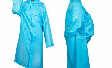 Homealexa Portable Adult Translucent Hooded Rain/Raincoat Po