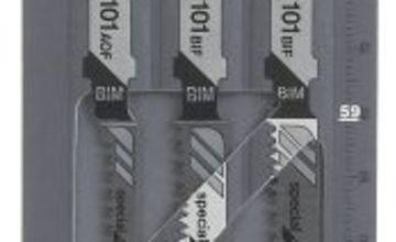 Bosch Laminate Jigsaw Blades (2 x T101 BIF, 1 x T101 AOF)