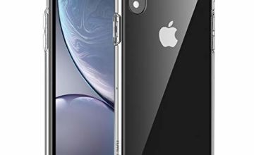 POWR Case for iPhone XR (Slim Design) Crystal Clear Full Shock-Absorption Protective Bumper Designed for Apple iPhone XR - Fully Transparent