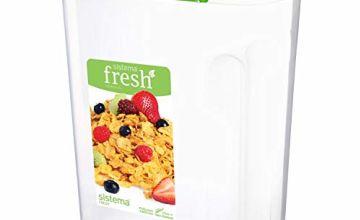 Sistema 4.2 Litre Cereal Box, Transparent/Green