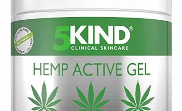 Hemp Joint & Muscle Active Relief Gel- High Strength Hemp Oil Formula Rich in Natural Extracts by 5kind. Soothe Feet, Knees, Back, Shoulders