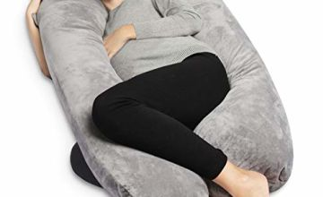 QUEEN ROSE Full Body Pregnancy Pillow & Maternity Pillow with Replaceable and Washable Cover