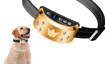 HVRSTVILL Anti Barking Dog Collar, Stop Barking Device for Small Medium Large Dog, NO SHOCK Safely and Humane with Sound & Vibration, Rechargeable No Bark Dog Training Collar, Adjustable Belt 7-55kg