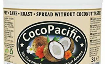 CocoPacific Raw Extra Virgin Odourless Coconut Oil 3 Litre