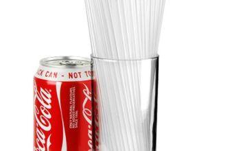 Collins Straws 8inch Clear - Box of 1000   Plastic Drinking Straws, Straight Straws, Cocktail Straws