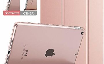 "MoKo Case Fit New iPad 7th Generation/iPad 10.2 2019 Case - Slim Lightweight Smart Shell Stand Cover with Translucent Frosted Back Protector for iPad 10.2"" 2019, Rose Gold(Auto Wake/Sleep)"