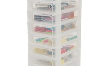 Save on Iris 8-Drawer Storage Tower, Frosted White, 26x35.5x65.5 cm and more