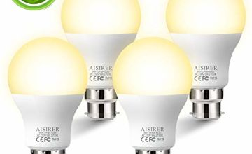WiFi Smart Bulb AISIRER Alexa Light Bulbs No Hub Requried, LED Bulb Compatible with Alexa Google Home IFTTT, Dimmable Warm Light 2700K, 9W,60W Equivalent, 806LM