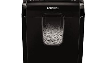 Fellowes Powershred X-6C Personal 6 Sheet Cross Cut Paper Shredder for Home Use - Exclusive to Amazon