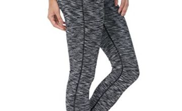 QUEENIEKE Yoga Leggings with Pocket Classic Tummy Control Medium Waist Running Pants Workout Tights for Women