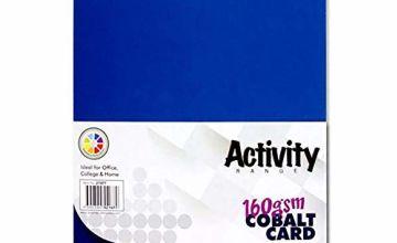 Premier Activity A4 160gsm Card 50 Sheets - Cobalt