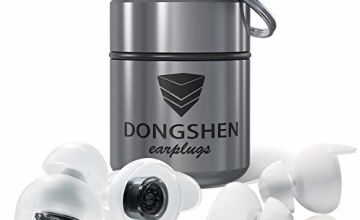 DONGSHEN Ear Plugs for Sleeping Reusable & Ultra-Soft Silicone,Alarm Remains Audible,Perfect Noise Cancelling Ear Plugs for Sleeping,Tinnitus,Snoring and More.(2 Pairs of Different Sizes)
