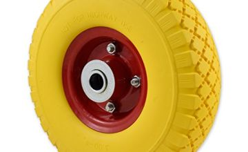 Solid Wheel for Wheelbarrow - Professional or Domestic Puncture Resistant with Metal Centre