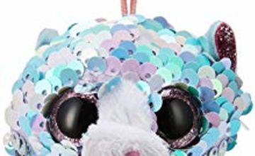 Ty 1607-35308 Whimsy Blue CAT FLIPPABLE-Clip, Multicolored