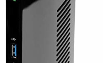 Plugable USB 3.0 Universal Laptop Docking Station for Windows (Dual Video HDMI and DVI/VGA, Gigabit Ethernet, Audio, 6 USB Ports)