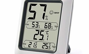 ThermoPro TP50 Room Thermometer Digital Indoor Hygrometer Monitor Temperature and Humidity Meter for Home Office Nursery Comfort, Min/Max Records