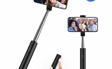 yoozon Bluetooth Selfie Stick, Mini All in One Extendable Selfie Sticks with Built-in Remote Shutter Button for iPhone 11/11 Pro/11 Pro Max/XS MAX/XR/8Plus, Galaxy Note 10/S10/S10E, Huawei and More