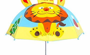 Childrens 3D Dome Umbrella, Olele Kids Umbrella for Boys and Girls