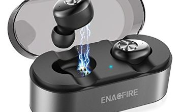 ENACFIRE E18 Bluetooth 5.0 Wireless Headphones 15H Playtime 3D Stereo Sound True Wireless Earphones Earbuds with Mic Grey