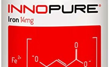 Iron Supplement for Energy and Immunity - 3 Months Supply 90 Tablets - Made in The UK by Innopure®