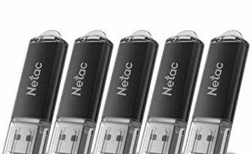 Netac USB Flash Drive, Memory Stick, Pen Drive, Thumb Drive for Data Storage, Zip Drive and jump Drive with LED Light