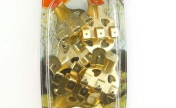 X' No.4 Extra Large Brass Plated Picture Hooks (Pack of 10)