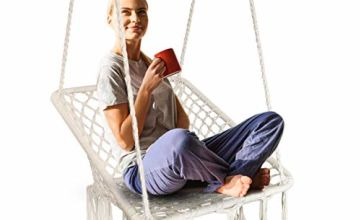 Surophy Swing&Hanging Chair with Handmade Knitted by Cotton