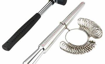 Meowoo Ring Sizer UK Measurement Scales Kit Tools for Measuring Rings Diameters