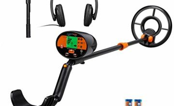 FLOUREON Metal Detector Pinpoint Gold Detector for Kids Adults Adjustable Outdoor Metal Finder with ALL METAL and DISC Modes Headphone Shovel