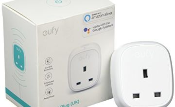 Eufy WiFi Smart Plug with Energy Monitoring, Works with Alexa and Google Home, No Hub Required, Control Your Devices from Anywhere