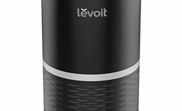 Levoit Air Purifier for Home with True HEPA Filter, Filter Change Reminder, LED Display Off Function, Portable Purifiers for Dust, Smokers, Pollen, Pet Dander, Hay Fever, Cooking Smell, LV-H132 Black