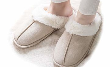 Miaows Ladies Slippers Women Size 6 7 8 Womens Womans Slippers Lady Slippers Fluffy Slippers Women Size 4 5 Fuzzy Slippers Mule Slipper Warm Indoor Slippers Bedroom Slippers S10