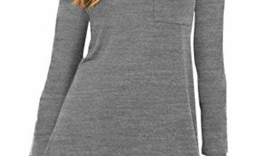 Eanklosco Women's Casual Dress V Neck Short/Long Sleeve T Sh