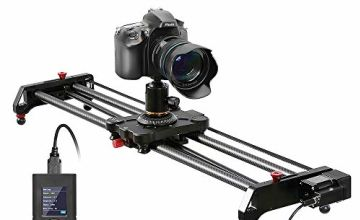 "Camera Slider, GVM 31"" Motorized DSLR Camera Track Dolly Slider Video Stabilizer Rail with Time Lapse Tracking and 120-degree Panoramic Video Shooting, Perfect for Photography Movie Film Making"