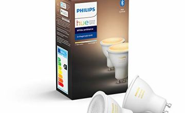 Philips Hue White Ambiance Smart Spotlight Twin Pack LED (GU10 Spot) with Bluetooth, Works with Alexa and Google Assistant