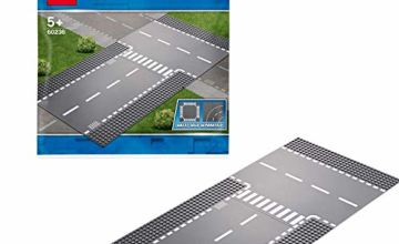 LEGO 60236 City Supplementary Straight and T-junction 2 x Base Plates for all LEGO Building Sets