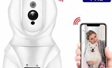 SMONET WiFi IP Security Camera Wireless Pet Camera, 1080P Smart Indoor Home Security Surveillance CCTV Camera with 2-Way Audio, Free App Remote Control for Baby/Elder/Pet …