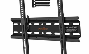Perlegear TV Wall Bracket, Tilt TV Mount for Most 23-55 inch LED, LCD, OLED, Plasma Flat&Curved TVs up to 60kg, Max VESA 400x400mm