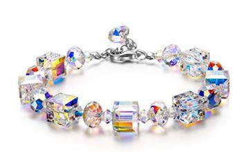 Susan Y Aurora Crystal Bracelets for Womens Gifts for Women Gifts for Her Personalised Gifts for Mum Antibacterial Jewellery for Women Ladies Gifts Sister Gifts
