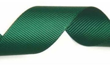 Club Green Grosgrain Ribbon GRN 25MMX10, Fabric, Bottle Green, 12.1 x 12.1 x 3.08 cm