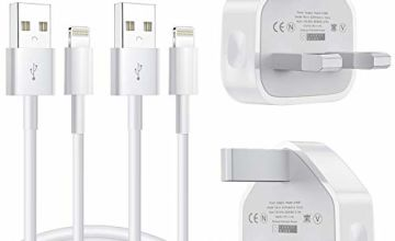 MFi Certified iPhone Charger, 2+2Pack 1M Lightning Cable and USB Plug Wall Charger Compatible iPhone 11/MAX/XS Max/XS/XRX/8/8 Plus/7/7 Plus/6/6S/6 Plus/5S/SE