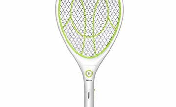 Electric Mosquito Fly Bugs Swatter Zapper Bat Racket, Pests Insects Control Killer Repellent, USB Rechargeable LED Lighting Double Layers Mesh Protection
