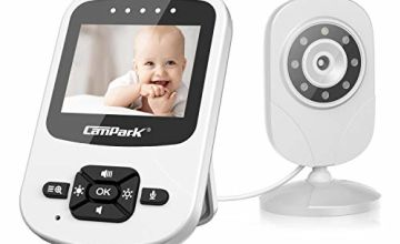 """Campark Video Baby Monitor with Camera Digital Cam with Infrared Night Vision 2.4"""" LCD 2.4GHz Wireless Transmission Two Way Talk Temperature Sensor VOX Auto Wake-up 4 in 1"""