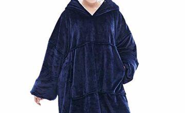 Lushforest Hoodie Sweatshirt Blanket,Oversized Super Soft Warm Comfortable Giant Hoody,Fit for Adults Men Women Teens