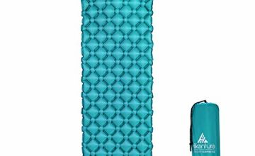 Hikenture Inflatable Sleeping Mat by Camping Mattress and Inflatable Roll Mat- Compact and Moistureproof - for Hiking, Backpacking, Hammock,Tent (Blue and Green)