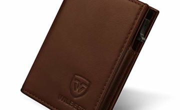 Credit Card Holders RFID Blocking Card Wallet Men Slim with Automatic Pop-up,Wallets Mens Leather Contactless Credit Card Protector&Money Pocket,Card Slots,Minimalist Wallet for Men Gift Box-Brownish